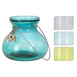 Sfeerlicht glas met schelpjes