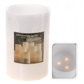 Kaars LED 15X22,5CM, wit
