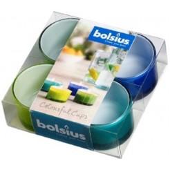 Bolsius Col Cups theelicht ds a 4 Tur