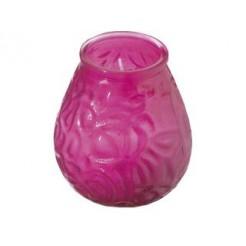 Bolsius Low Boy Glazen Windlicht Roze 12 stuks