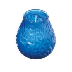 Bolsius Low Boy Glazen Windlicht Blauw 12 stuks